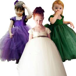 a23046b25bcdc Promotion Robe De Mariée Pourpre Pour Enfants