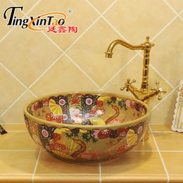 Wholesale Jingdezhen Basin - Jingdezhen ceramic art counter basin wash basin lavabo sink Bathroom sinks