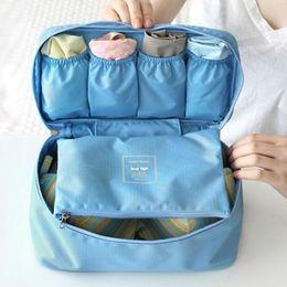 Wholesale Bras Bag Organizer - Waterproof Women Girl Lady Portable Travel Bra Underwear Lingerie Organizer Bag Cosmetic Makeup Toiletry Wash Storage case