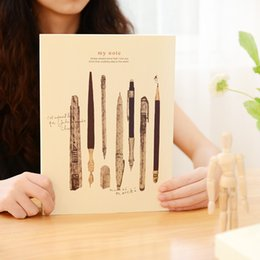 Wholesale Book Blank Pages - Wholesale- Agenda Preppy Style 128 Pages Blank Paper Painting Drawing Sketch Pad Notebook Art Sketchbook Book Office School Supplies Gift