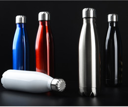 Wholesale Tea Bottle Thermos Flask - Creative 500ML Thermos Vaccum Flasks Thermocup Stainless Steel Travel Mug Tea Coffee Water Vacuum Cup Thermos Bottle for Outdoor Sports Camp