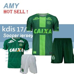 Wholesale Wholesale Youth Shirts - DHL- youth Chapecoense AF KIDS camisa de futebol brasil club home third soccer jersey Kits Maillot De Foot Football shirts set uniforms