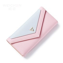 Wholesale Envelope Wallets - Hot Geometric Envelope Clutch Wallet For Women, PU Leather Hasp Fashion Design Wallet For Phone Money Bags Coin Purse