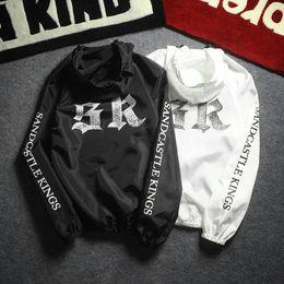 Wholesale Thin Black - Fear Of God FOG Jacket Men Women High Quality Fashion Hip Hop Summer Outwear Sk Print Thin Windbreaker Justin Bieber Jacket Coat