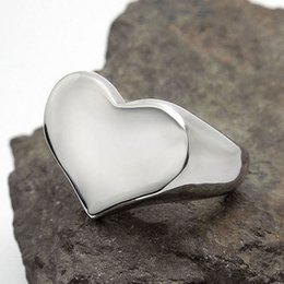Wholesale Quality Spade - Fashion Top Quality love Heart Shape Ring 316L Stainless Steel Valentine's Day Gift Poker Spade Ring From