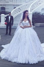 vintage kleider vestido noiva renda Rabatt Vestido De Noiva Renda Vintage Spitze Prinzessin Brautkleider 2017 Ballkleid Brautkleid Robe De Mariage Casamento