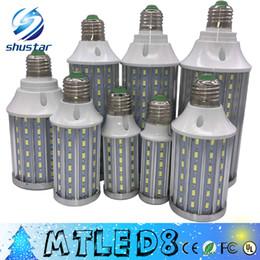 Wholesale E14 Led 25w - Ultra Bright PCB Aluminum 5730 SMD LED Corn Bulb 85V-265V 10W 15W 20W 25W 30W 40W 60W 80W No Flicker LED Lamps