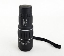 Wholesale powered night vision binoculars - Hot sell 16X52 Faint light night vision with lens cover high-power monocular binoculars