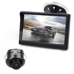 Wholesale Car Front Rear View Camera - 5inch LCD Rear View Car Monitor + Back Up Rear Front Side View Cam for Parking Assistance System