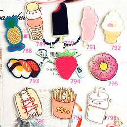 Wholesale Harajuku Brooch - Wholesale- 1pc Harajuku Cute Acrylic Sushi Donuts Cherry Brooch Pin Women Girls Badge Scarf Collar Bag Broche Souvenir Gifts Party Jewelry