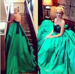 Wholesale Modest Cheap Peplum Dress - 2017 Cheap Long Strapless Satin Evening 1y Plus Size green pretty celebrity modest elegant dresses open back fairy gown for pregnant women