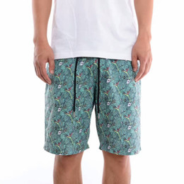 Wholesale Middle Board - RIPNDIP BOARD Shorts For Men NERMAL LEAF Printed Summer Shorts Lace-Up Waist Loose Casual Middle Pants Brand Clothes LLWG0705