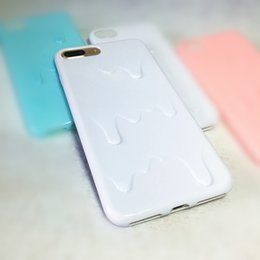 Wholesale Melt Ice Cream Cases - For iPhone 6 6S 7 PLUS Soft Silicone Case TPU Case Melting Ice Cream Candy Color Cover Capa Shell Fundas Conque