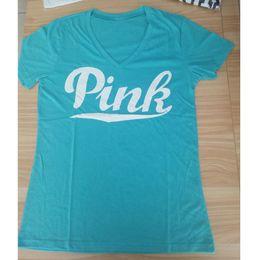 Wholesale Kawaii Love - VS Secret Love Pink Summer T Shirts Women Letter Print Tumblr Bts Graphic Harajuku Kawaii Punk Cotton Tee Tops Girls Clothing Plus Size