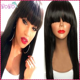Wholesale Natural Hair Line Full Lace - Brazilian Silky Straight Lace Front Human Hair Wigs 130 Density Glueless Full Lace Wig with Baby Hair Natural Hair Line