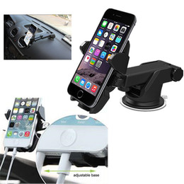 Wholesale Dashboard Windshield Car Mount - car holder car mount holder universal for dashboard and windshield with adjustable long neck adhesive silicon base new 360 degree rotary