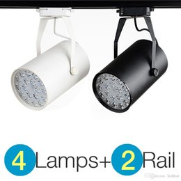Wholesale 12w Led Track Light - 4+2 High Power LED Track Light 7W   12W   18W Rail Aluminum Lamp + Track Rail for Commercial Retail Spotlight Lighting