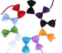 Wholesale Dog Collar Bow Tie - Dog Neck Tie Pet Bowties Genteel Bowknot Handsome Cat Ties Collars Pet Grooming Supplies Dog Clothing Apparel Pet Accessories