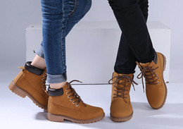 Wholesale Cheap Low Heel Boots - 2016 Women Men Fashion Martin Boots Snow Boots Outdoor Casual cheap Timber boots Autumn Winter Lover shoes