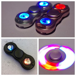 Wholesale Colour Flash - LED Light Flash Fidget Toys Lumious Hand Spinner Aluminum Alloy 5 Colour Fidget Spinner Gyro Toys Adults Children Educational Toys