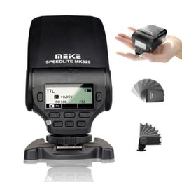Wholesale Speedlite Ttl - Wholesale-Pro Mini Adjustable MEIKE MK320 TTL S1 S2 LCD screen Flash Speedlite for Fuji