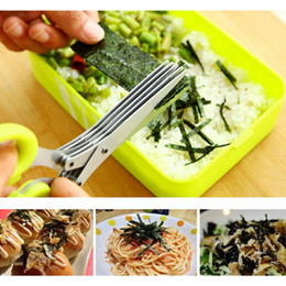 Multi-fonctionnelle En Acier Inoxydable Couteaux De Cuisine 5 Couches Ciseaux Sushi Émincé Scallion Herbes Épices Ciseaux De Cuisine Outils ? partir de fabricateur