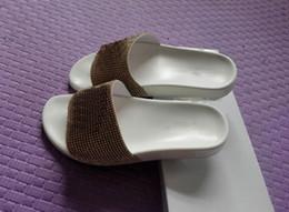 Wholesale Comfortable Gold Sandals - 2017 Mens Comfortable Medusa rhinestone Summer Beach fashion slip-on sandals flip-flops 36-45