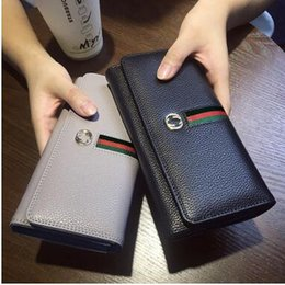Wholesale Ladies Business Fashion - Popular classic fashion lady famous designer brand hand bag buckles wallet bag zipper wallet free shipping