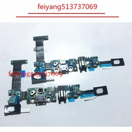 Wholesale Galaxy Note Flex Cable - Original new For Samsung Galaxy Note 5 N920P USB Charger Connector Charging Port Flex Cable