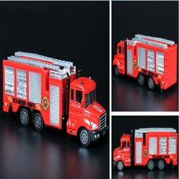 Wholesale Toy Fire Truck Models - Mini Fire Truck Model Toys For Kids Children Game Playing Have Fun best price wholesale free shipping