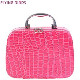 Wholesale Black Makeup Bags Wholesale - Wholesale- FLYING BIRDS Cosmetic Bags Box Makeup Bag women cosmetic cases Beauty Case Travel purse Jewelry Display Case fashion LM3601fb