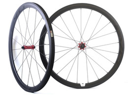 Wholesale Bicycle Front - 700C 38mm depth 25mm width carbon wheel road bicycle Tubular carbon wheelset with EVO straight pull hub, U-shape rim