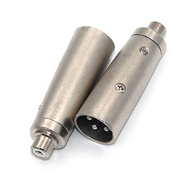 Wholesale Microphone Xlr Pin - 3 Pin XLR Plug Male to RCA Female Audio Jack Adapter Connector Applied on Microphone Amplifier