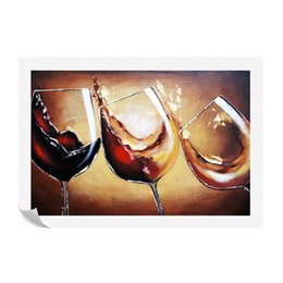 Wholesale Oil Acrylic Canvas - 1 Pieces HD Printed Red Wine Painting Canvas Art Prints for Living Room Bar Decor Non-frame Acrylic Painting SJMT1864