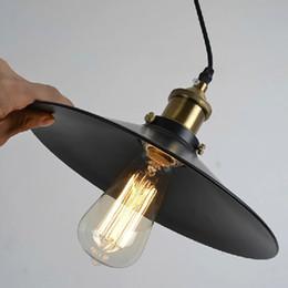 Wholesale Vintage Battery Light - Industrial Vintage Pendant Lights for Home Restaurant Bar Antique Pendant Lamp Black Pendant Lamp Black Portable Lanterns