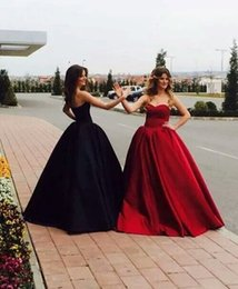 Wholesale Vintage Ball Gowns Sale - Simple Ball Gown Prom Dresses Sweetheart Backless Satin Evening Dresses Cheap High Quality Celebrity Dresses 2017 for Sale