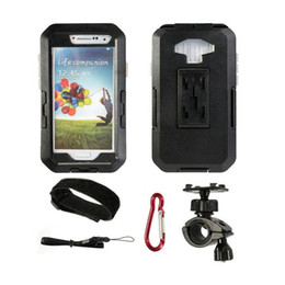 Wholesale Galaxy S3 Waterproof Bike Holder - Newest Hight Quality Waterproof Universal Bicycle Bike Motorcycle Handlebar Phone Holder Stand For Samsung Galaxy S3 S4 Holder