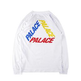 Wholesale Skate Shirt Long Sleeves - dongguan_wholesale hip hop street 18FW PALACE ALPHA LONGSLEEVCotton Hit Short Sleeve Palace skateboard shark T-Shirt Men & WomenPalace Skate