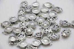 10 UNIDS 12 * 4.6mm 3row Venta al por mayor Caliente botón a presión de Metal Accesorio Plateado para el Collar Pulsera Mecanizado piezas Fabricación de joyas desde fabricantes