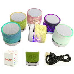 Wholesale Mini Speakers Mp3 Radio - Mini Speaker Bluetooth Speakers LED Colored Flash A9S10 Wireless Stereo FM Radio TF Card USB For iPhone Samsung Speakers With Retail Package
