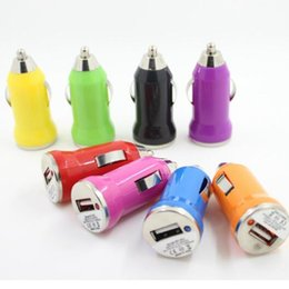 Wholesale Iphone Gps Adapter - New Fashion Mini Bullet USB Car Charger 5V 1000mA With IC Protection Adapter For iPhone 5 5s 6 6s plus MP3 GPS Universal