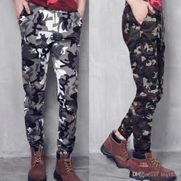 Wholesale Mens Camo Pants Fashion - Fashion Mens Jogger Autumn Pencil Harem Pants Men Camouflage Military Pants Loose Comfortable Cargo Trousers Camo Joggers