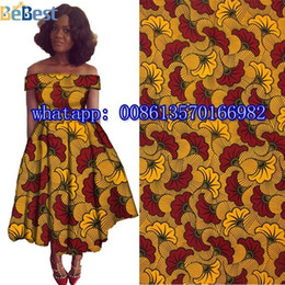 Wholesale Super Wax Hollandais New Design - 2016 New design super Hollandais wax African clothing high quality 100% cotton African fabric for party dress H17032901