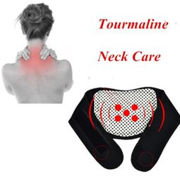 Wholesale Neck Support Massager - Magnetic Therapy Neck Spontaneous Heating Headache Belt Neck Massager Self-heating Brace Wrap Neck Support Brace Protect KKA1998