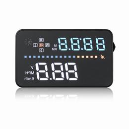 sistemas de alarma de gas Rebajas A3 3.5 pulgadas OBD GPS HUD head-up pantalla parabrisas del coche proyector datos de conducción velocímetro exceso de velocidad Sistema de seguridad de advertencia