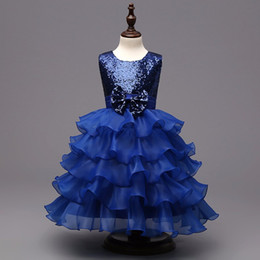 Wholesale Clothes For Prom - Kids Prom Party Gowns Designs Children Clothes Kids Formal Dresses for Girls Wedding Lace Tulle Christmas Dress 3colors