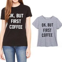 Wholesale Lady T Shirt Sale - Wholesale- 2016 hot sale short sleeve letter tee shirt for women casual ladies o-neck loose moda female vetement famme t-shirts