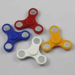 Wholesale Cheap Ship Toy - Cheap Small EDC Triangl Fidget Hand Tri-Spinner Toy Adult Funny Anti Stress Toys Plastic Sensory Colorful Tri Spinners Gyro Free Shipping