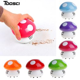 Wholesale Desktop Computer Screen - New Functional Desktop Vacuum Cleaner Cartoon Mushroom Mini Dust Collector Household Computer Keyboard Clean Brushes Free Shipping