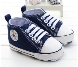 Wholesale Baby Slip Shoes - 2017Newborn Baby Shoes Infant Baby First Walkers Spring Autumn Boys Girls Shoes Toddler Sports Sneakers Soft Soled Anti-slip Shoes